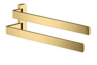 AXOR Universal Accessories Towel holder twin-handle Polished Gold Optic  by  AXOR