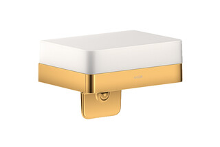 AXOR Universal Accessories Lotionspender mit Ablage Polished Gold Optic  von  AXOR