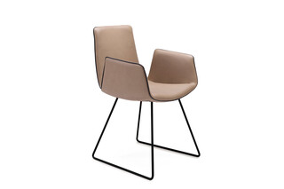 Amelie armchair with costers  by  Freifrau