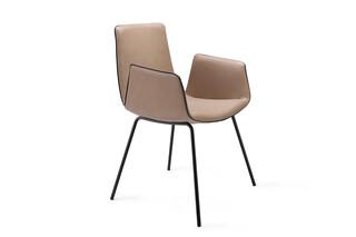 Amelie armchair with steele frame  by  Freifrau
