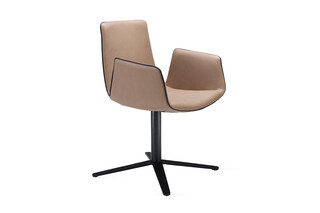 Amelie armchair with x-base frame  by  Freifrau
