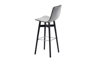Amelie barstool high with wooden frame  by  Freifrau