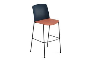 Mixu - Bar stool 4 legs  by  Arper
