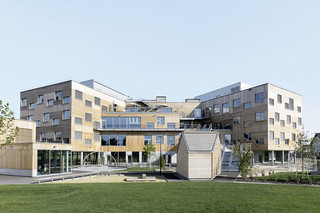 concrete skin, Berresgasse educational campus  by  Rieder