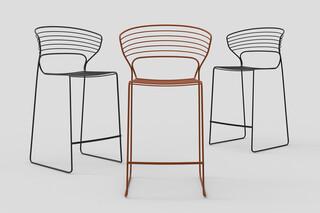 Koki Wire bar stool  by  Desalto
