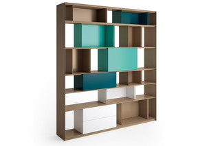 STACK shelving system  by  müller möbelfabrikation