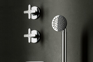 Icona Classic 3/4 built-in thermostatic shower mixer - 3/4 stop valve - shower set  by  Fantini
