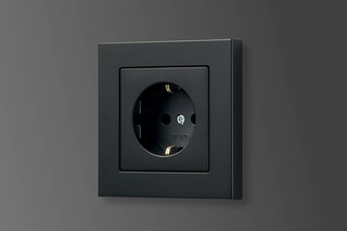 A 550 SCHUKO-Socket graphite black  by  JUNG