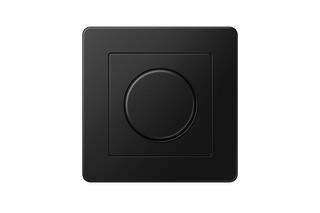 A FLOW rotary dimmer matt graphite black  by  JUNG