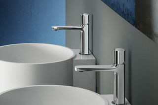 LAMÉ Single-hole washbasin mixer  by  Fantini
