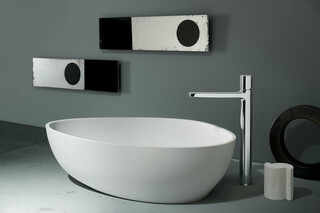 LAMÉ Single-hole high washbasin mixer  by  Fantini