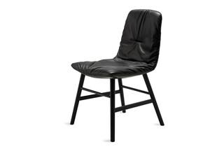 Leya chair with wooden frame round  by  Freifrau