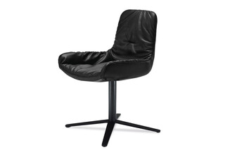 Leya armchair low with x-base frame  by  Freifrau