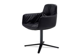 Leya armchair high with x-base frame  by  Freifrau