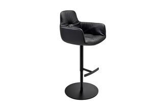 Leya bar armchair high with central leg  by  Freifrau