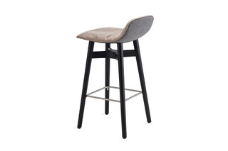 Leya counter stool low with wooden x-base frame  by  Freifrau
