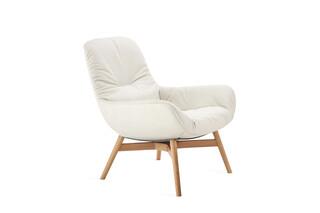Leya lounge chair with wooden frame  by  Freifrau