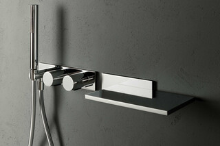 Milano Built-in shower mixer - Built-in bathtub spout  by  Fantini