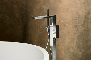 MINT Floor-mount bathtub mixer  by  Fantini