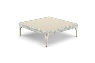 MU coffee table glass top 90x90  by  DEDON