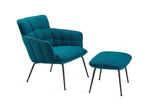 Marla easy chair low with steel frame  by  Freifrau