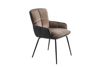 Marla armchair low with steel frame  by  Freifrau