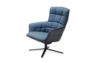 Marla easy chair high with x-base frame  by  Freifrau