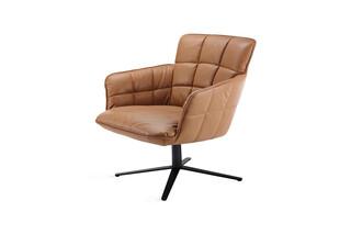 Marla easy chair low with x-base frame  by  Freifrau