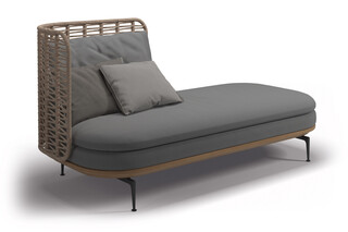 Mistral left chaise  by  Gloster Furniture