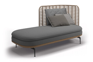 Mistral right chaise  by  Gloster Furniture