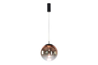 glaskugelleuchte ku3 LED gradient rosegold  by  mawa design