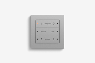 Pushbutton sensor 3 colour Aluminium  by  Gira
