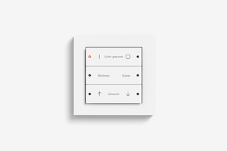 Pushbutton sensor 3 pure white matt  by  Gira
