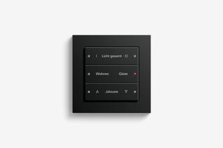 Pushbutton sensor 3 black matt  by  Gira