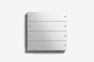 Pushbutton sensor 4 aluminium  by  Gira