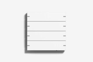 Pushbutton sensor 4 pure white matt (varnished)  by  Gira