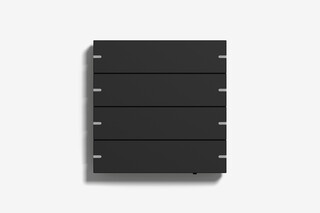 Pushbutton sensor 4 black matt (varnished)  by  Gira