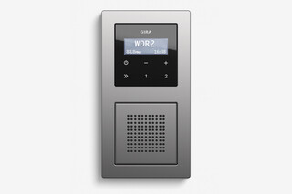 RDS flush-mounted radio with a speaker stainless steel (including E2)  by  Gira