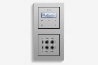 RDS flush-mounted radio with a speaker colour aluminium (including E2)  by  Gira