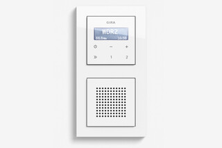 RDS flush-mounted radio with a speaker pure white glossy (including E2)  by  Gira