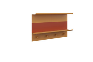 MYA Accessoires wall shelf with hooks  by  burgbad