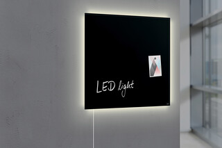 Magnetic Glass Board Artverum LED light 48 x 48  by  SIGEL
