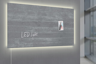 Magnetic Glass Board Artverum LED light 91 x 46  by  SIGEL