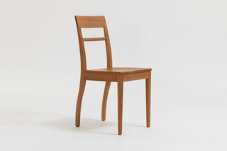 Blue Chair – Wooden seat  by  Zeitraum