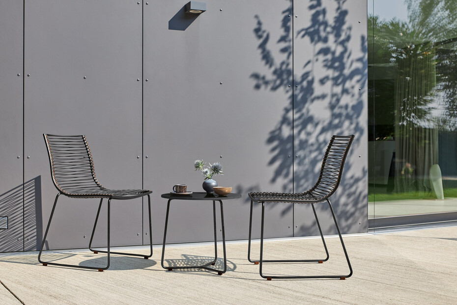 Pan Black side table