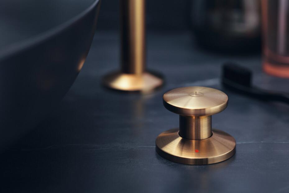 AXOR One 2-Loch Waschtischmischer Select 260 mit Push-Open Ablaufgarnitur Mattschwarz