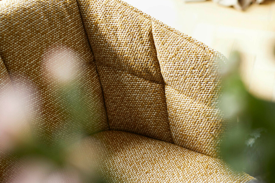 Marla armchair high with steel frame