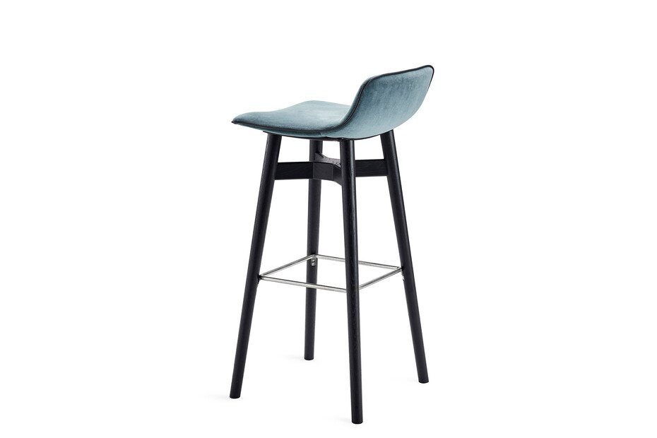 Amelie barstool low with wooden frame