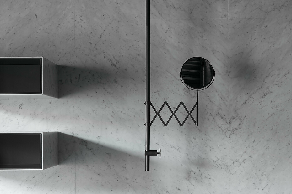 Ceiling-mount washbasin mixer