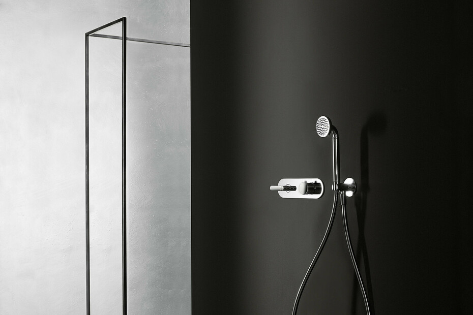 Icona Deco 3/4 built-in thermostatic shower mixer - shower arm - Rain showerhead - Shower set
